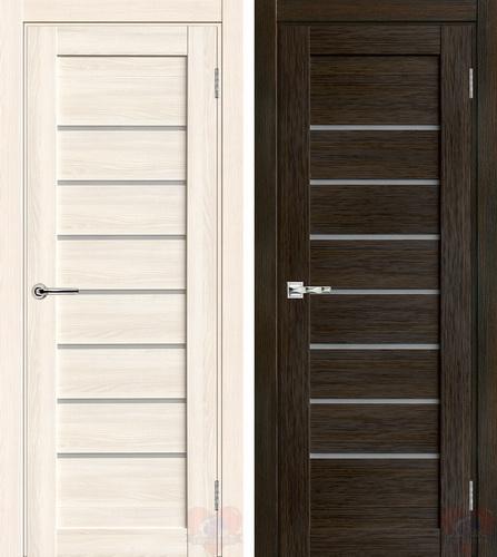 Белая и коричневая филенчатые двери