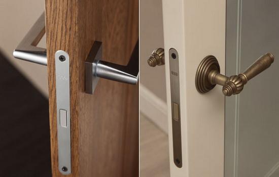 Двери с магнитными ручками