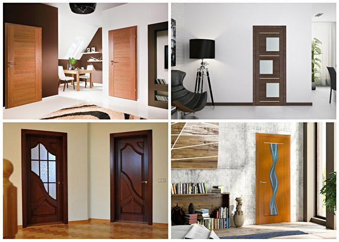 Дверные МДФ конструкции в интерьере квартиры