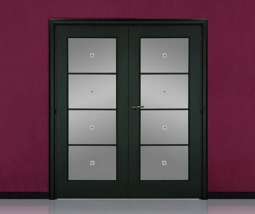 Двухстворчатый распашной вариант двери