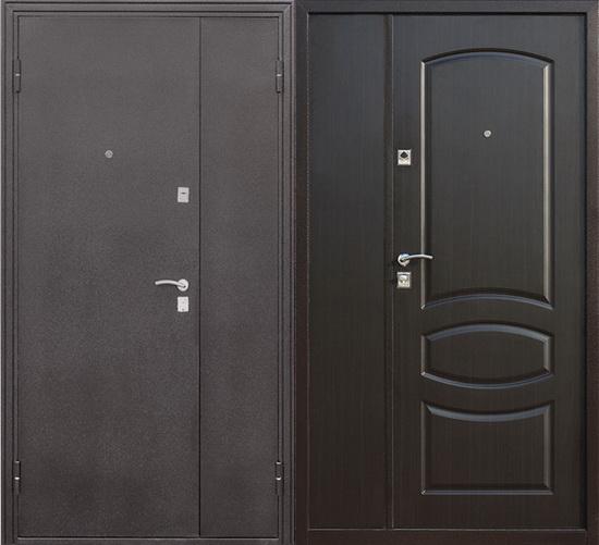 Двупольная дверь из железа