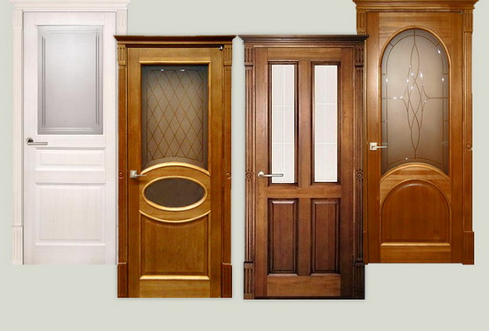 Каркас двери и филенки изготовлены из массива сосны