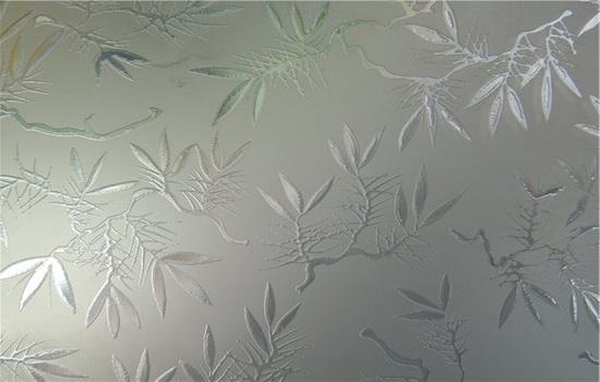 Матовое стекло с узором - красиво и эстетично