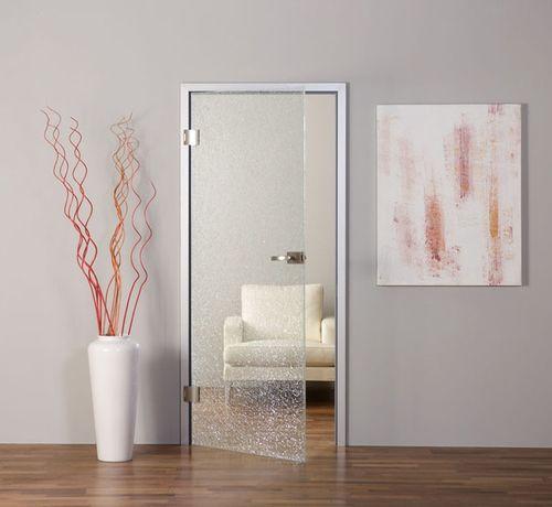 Межкомнатные двери с матовым стеклом в современном интерьере
