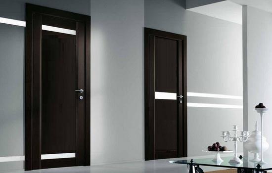 Межкомнатные двери цвета венге. Варианты сочетания в интерьере