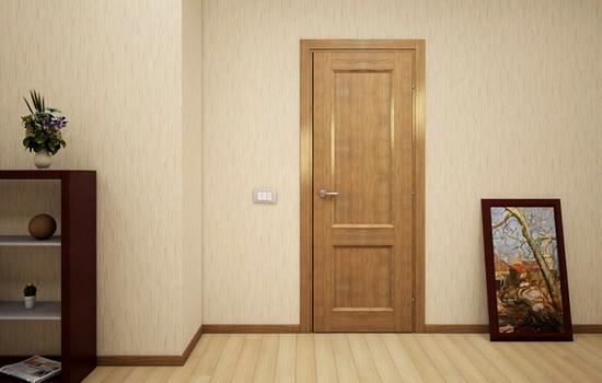 Простая деревянная дверь в комнату