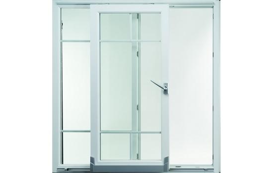 Телескопические пластиковые межкомнатные двери
