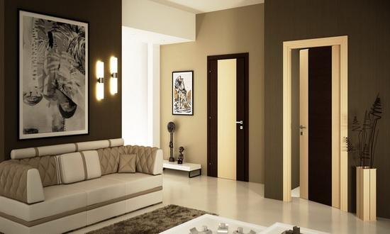 Разноцветные двери с ПВХ покрытием