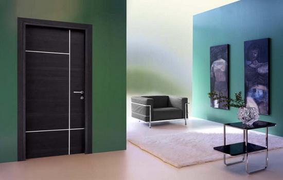 Темно-серые межкомнатные двери