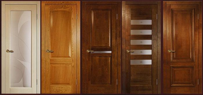 Варианты дверей из массива