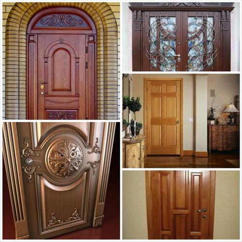 Вариации входных дверей из дерева