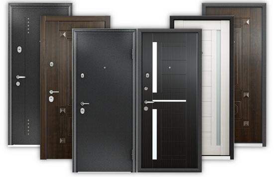 Внешние входные двери из металла