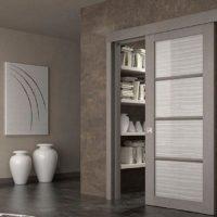 Одностворчатые раздвижные межкомнатные двери. Описание видов, возможностей и конструкции
