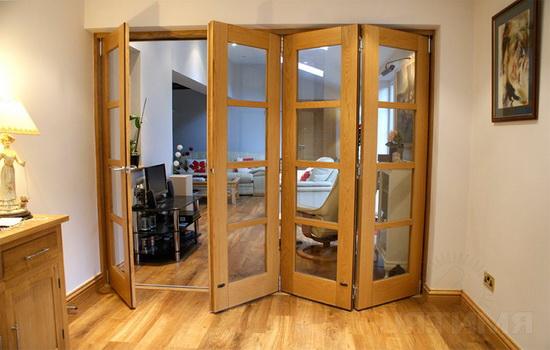 Двери межкомнатные гармошка преимущества и недостатки, разновидности и самостоятельная установка