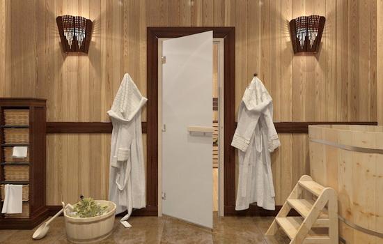 Основные виды дверей для бань